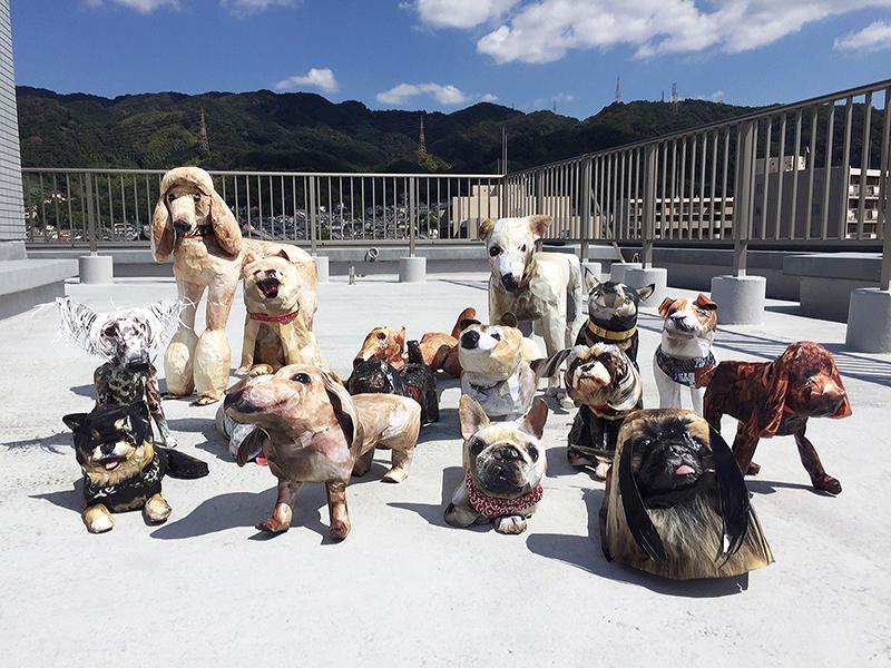 Balade avec les chiens d'Akina Tokiyoshi